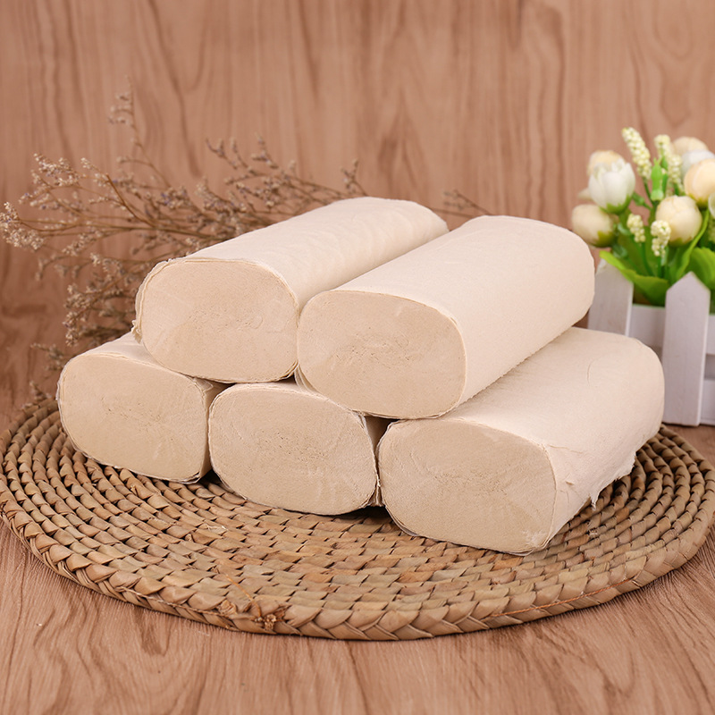 Bamboo Pulp Qualities Roll Paper Household Roll Paper Infant Paper Coreless Household Toilet Paper 12 Volume/Mention Manufacture