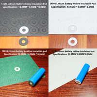 100pcs 14500 lithium battery negative solid insulating mat surface cushion meson 5 battery, highland barley paper surface mat