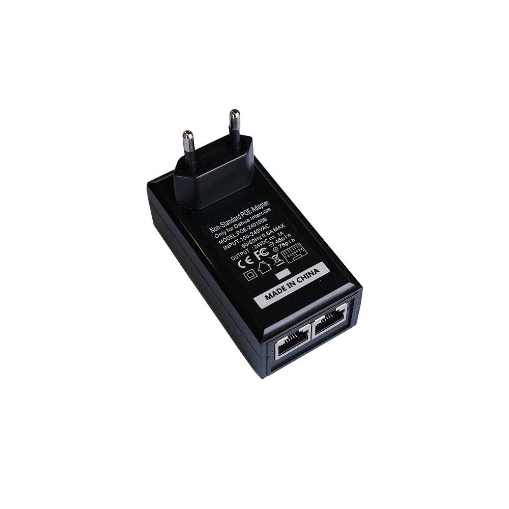 EU Plug, Non-Standard POE Power Adapter,Input AC 100-240V,Output DC24V 1A For DAHUA Video Intercom VTH1550CH VTH5221D VTO2000A