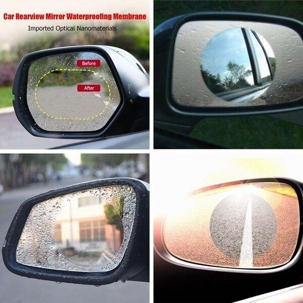 2Pcs/set Rainproof Car Accessories Car Mirror Window Clear Film Membrane Anti Fog Anti-glare Waterproof Sticker Driving Safety 2