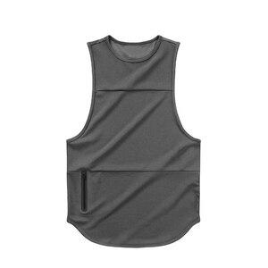 Сетчатый топ на бретелях для мужчин, летний брендовый спортивный жилет для мужчин, фитнес, рубашка без рукавов, спортивная одежда для бодиби...