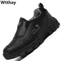 Winter Warm Fur Shoes Man Leather Designer Men Casual Sneakers Breathable Slip-on Men's Outdoor Trekking Shoes Zapatillas Hombre 1
