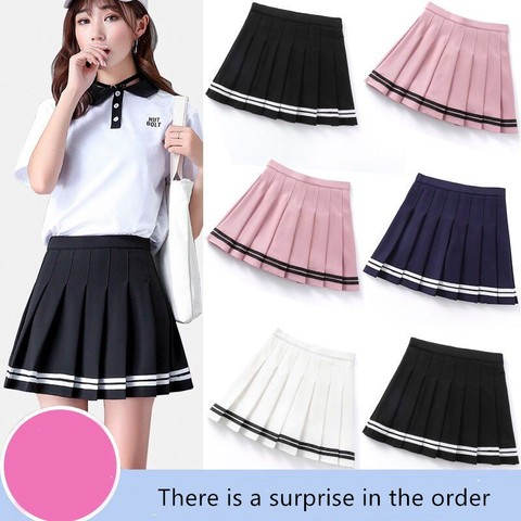 Women high waist Cosplay skirt 2019 Spring summer kawaii Denim solid a-line sailor Skirts Japanese school uniform Mini Skirts Pakistan