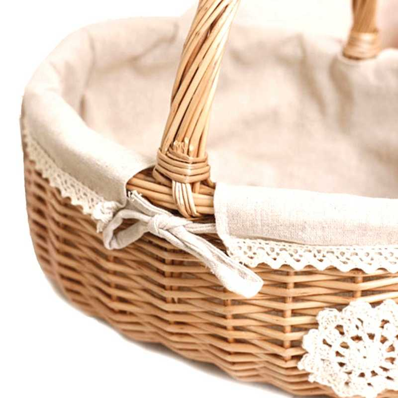 decorative baskets dried flowers small baskets country basket.htm wicker basket rattan storage basket box picnic basket fruit flower  wicker basket rattan storage basket box