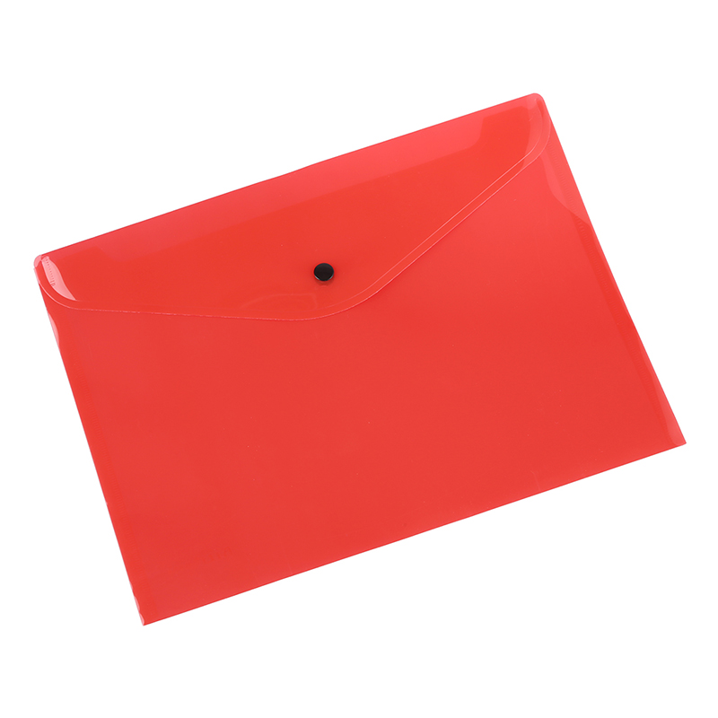 A Pack Of 12 Plastic Stud Document Wallets Folders Filing Paper Storage-red-A4