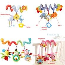 תינוק עגלת צעצועים חמוד חיות רעשן מיטת תליית מכונית עריסת עגלת ספירלת קטיפה לפייס צעצועי Teether התפתחותית רעשנים צעצוע