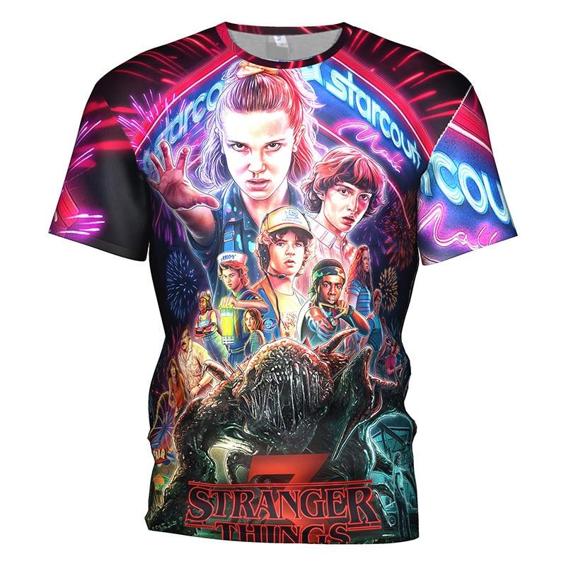 3D Printed Stranger Things  3 T Shirt Men/women Horror Movie Montauk Gym T-shirt Gothic Hip Hop Streetwear Tee Tshirt