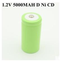 10pcs גבוהה קיבולת 1.2v נטענת סוללה D גודל את Cd Ni cd 1.2v Nicd סוללות 5000mAh Recargable Bateria 5000 Mah