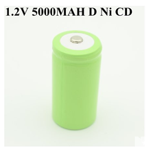 10pcs 고용량 1.2v 재충전 전지 d 크기 cd ni cd 1.2v nicd 건전지 5000 mah recargable bateria 5000 mah