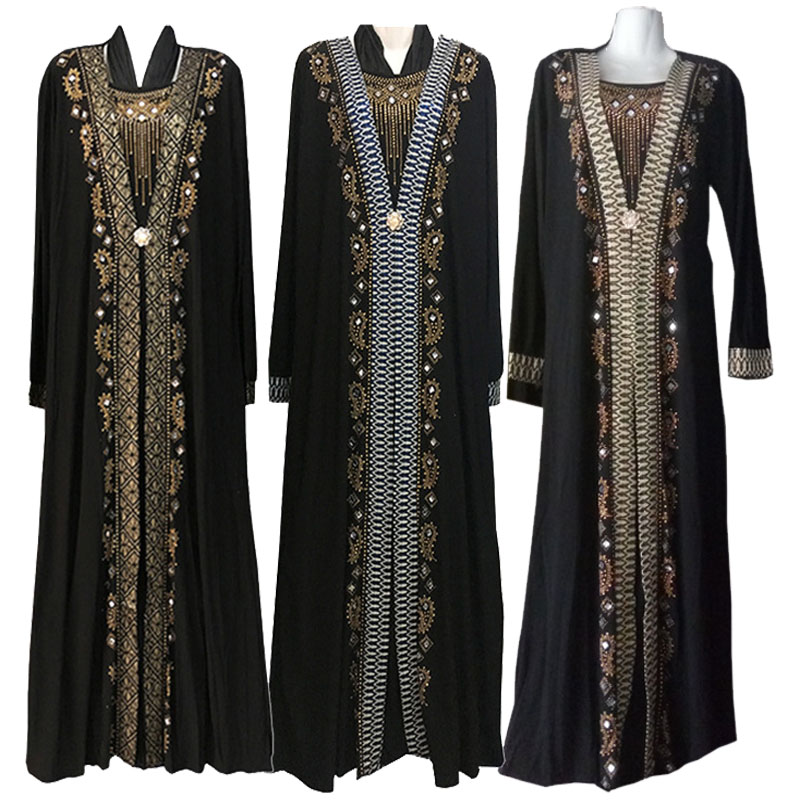 Plus Size Women Kids Abaya Islam Robe Arab Clothes Hijab Turkish Indian Kaftan Islamic Prayer Dress Muslim Dresses With Hijab