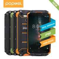 Versión Global desbloqueado smartphone 9000 mah Poptel p9000 max 4G/64G NFC banco de energía teléfono puede ODM impermeable resistente smartphone