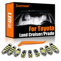 Zoomsee Canbus LED Interior para Toyota Land Cruiser 70 80 100 de 200 del Prado 90 120 150 FJ coche Interior bombilla para cúpula maletero placa Kit de luz