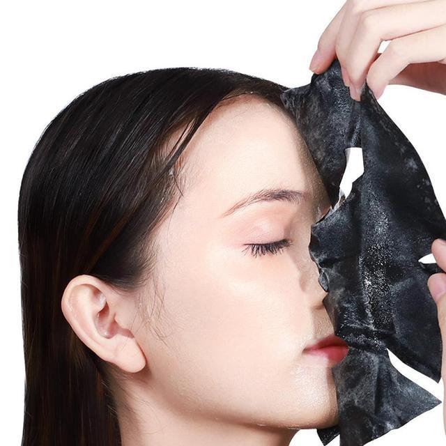 Oxygen Bubble Sheet Mask Korean Cosmetic Moisturizing Bamboo Charcoal Black Face Mask Whitening Skin Care High Quality 5