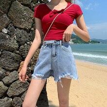Женские летние шорты Шорты женские лето и осень новый большой размер носить высокой талии тонкий широкий шорты для женщин