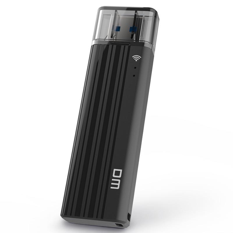Unidade Flash DM USB3.0 WFD016 32GB WI-FI sem fio USB Para iPhone/Android/PC Inteligente de Memória Pen Drive usb Stick Multiplayer Com Shar