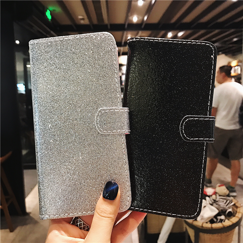 Coque <font><b>Huawey</b></font> <font><b>Y5</b></font> <font><b>2019</b></font> Y6 <font><b>2019</b></font> Glitter Phone Accessories Fashion Simple Flip Wallet Leather Case For Huawei <font><b>Y5</b></font> Y6 <font><b>2019</b></font> Card Cover image