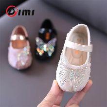 DIMI 2020 sonbahar bebek kız ayakkabı yumuşak rahat başlayan prenses ayakkabı moda sevimli yay taklidi parlak bebek ayakkabı kız