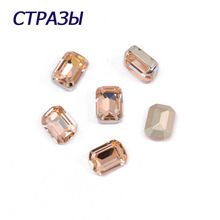 CTPA3bI 4610 Octagon Shape Light Peach Color Crystal Beads for Jewelry Making Beadwork DIY Garments decoration Art Crafts