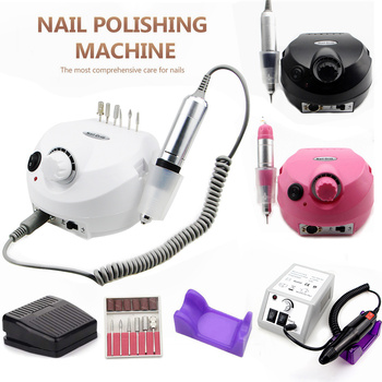 Nail Drill Machine 35000RPM Pro Manicure Machine Apparatus For Manicure Pedicure Kit Electric Nail File With Cutter Nail Tool professional 35000rpm 15w electric nail drill machine manicure cutter accessory kit for pedicure manicure file diy nail art tool