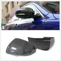 Carbon Fiber Side Rear View Mirror Cover Trim for Leopard XJ XJL 2010-19 XF XFL 2011-18