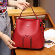 цены fashion bucket bag simple casual female shoulder bag messenger bag women handbags women leather handbags