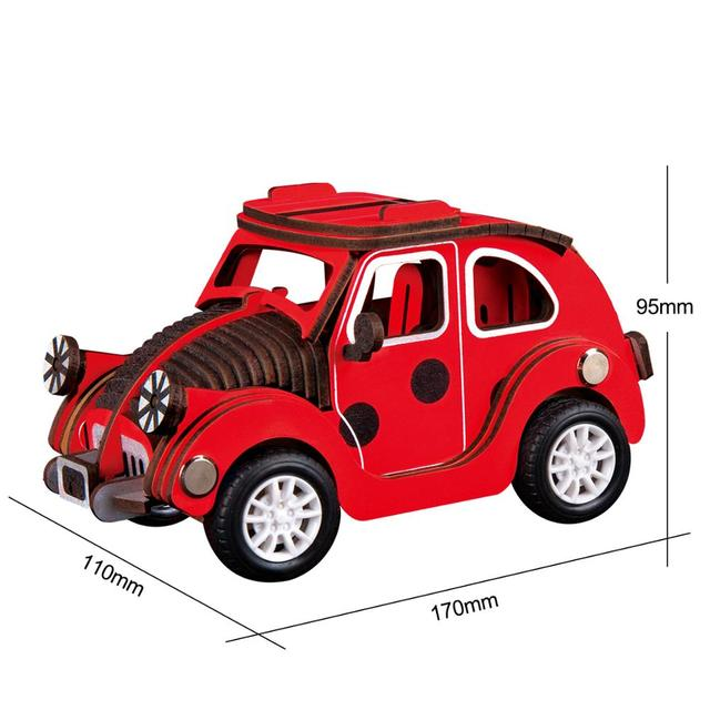 Robotime 4 Kinds Inertia Power 3D Wood Puzzel Car Model Building Kits for  kids|Model Building Kits| - AliExpress