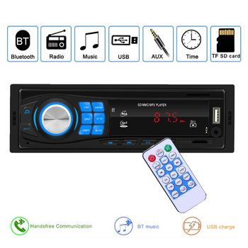 12V Car Bluetooth Stereo Audio FM Radio Hands-free AUX USB MP3 Music Player image