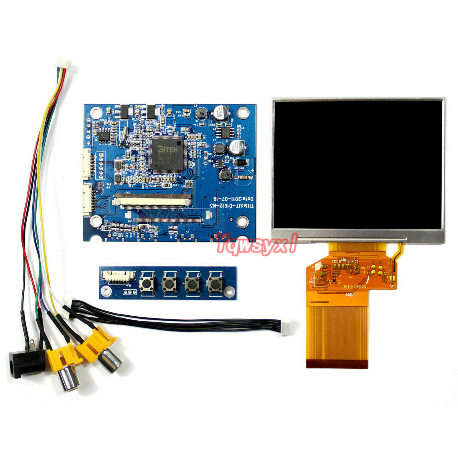 Yqwsyxl New 3.5inch LQ035NC111 320x240 LCD Screen With 2AV LCD Controller Board For Satlink WS 6906 Satellite Finder LCD Screen