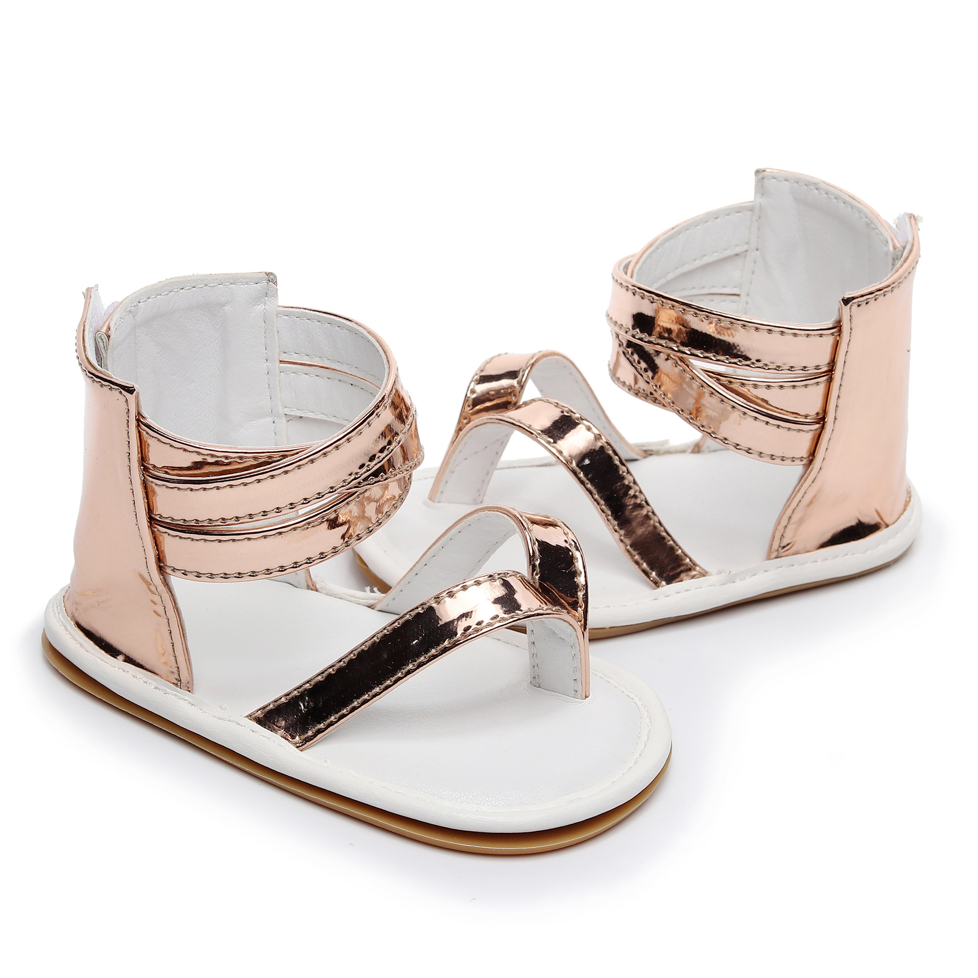 2019 Fashion Baby Sandals Summer Crib Moccasins Shoes Anti-slip Hard Sole Flip Flop Infant Baby Shoes 0-24 M