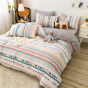 Fashion Bedding Set Modest Country Plant Animals Family Use Sheet Duvet Cover Pillowcase Full Twin Single Queen Bed Set 2021