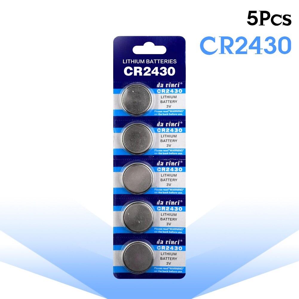 5-pcs/уп CR2430 аккумулятора кнопочного типа DL2430 BR2430 KL2430 ячейки литий Батарея 3V CR 2430 для мобильного часо-Электронная игрушка пульт дистанционног...