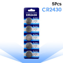 Bateria de lítio 3v cr 2430 da moeda da pilha das baterias dl2430 br2430 kl2430 do botão do bloco cr2430 para o controle remoto eletrônico do brinquedo do relógio