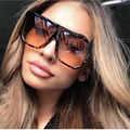 Sexy Platz Sonnenbrille Frauen Mode Marke Übergroßen Sonnenbrille Weiblich Braun Shades für Männer Damen Lunette Femme Oculos