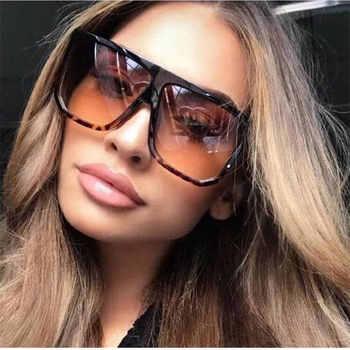Sexy Square Sunglasses Women Fashion Brand Oversized Sun Glasses Female Black Brown Shades for Men Ladies Lunette Femme Oculos недорого