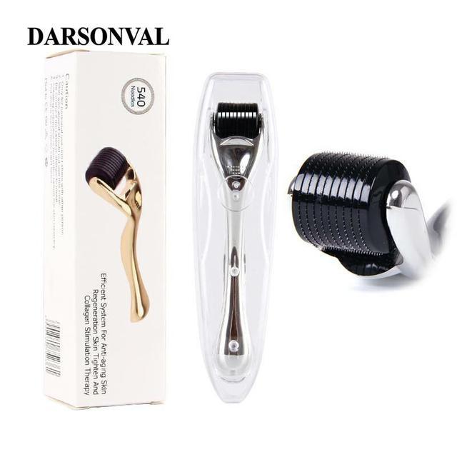 DARSONVAL DRS 540 микро иглы Дерма ролик Титан mezoroller микроиглы машина для ухода за кожей и лечения тела