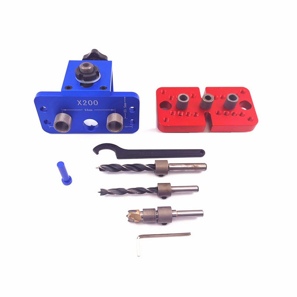 X200 Woodworking 3 in 1punch locator Self Centering Dowelling JigDowel Drilling Tools For Wood Working Joinery tenon Hole opener|Woodworking Benches|   - title=
