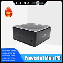 Eglobal Gaming Mini komputer Intel i5 9300H i7 8850H 6 rdzeń 12 wątków Nuc komputer Win 10 Pro NVMe PCIe 2 * DDR4 AC WiFi HDMI Mini DP