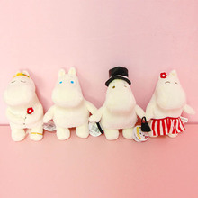 20cm 4 Style Hippo Moomin animal figure Cartoon plush Movie & TV Stuffed plush doll PP cartoon filling white cute soft kids gift стоимость