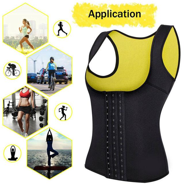 2020 Plus Size Women Neoprene Hot Vest Shaper Gym Sauna Sweat Thermal Belt Girdle Tank Top Ladies Half Body Shaper Bra S-6XL 3
