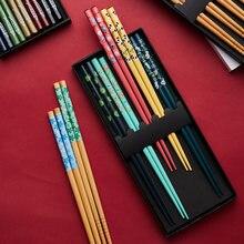 Деревянные палочки для еды 5 пар китайский стиль деревянная