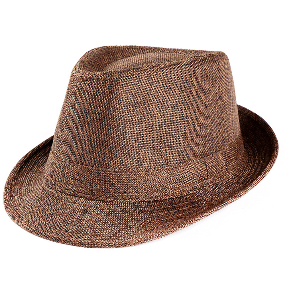 Best Selling 2019 Product Unisex Trilby <font><b>Gangster</b></font> Cap Beach Sun Straw Hat Band Sunhat Chapeau Femme Шапка Женская Dropship #8 image