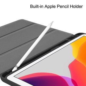 Image 3 - MTT kılıf iPad 10.2 inç 7th 8th nesil kalem tutucu ile yumuşak TPU + PU deri Fold kapak akıllı funda Tablet kılıf a2198