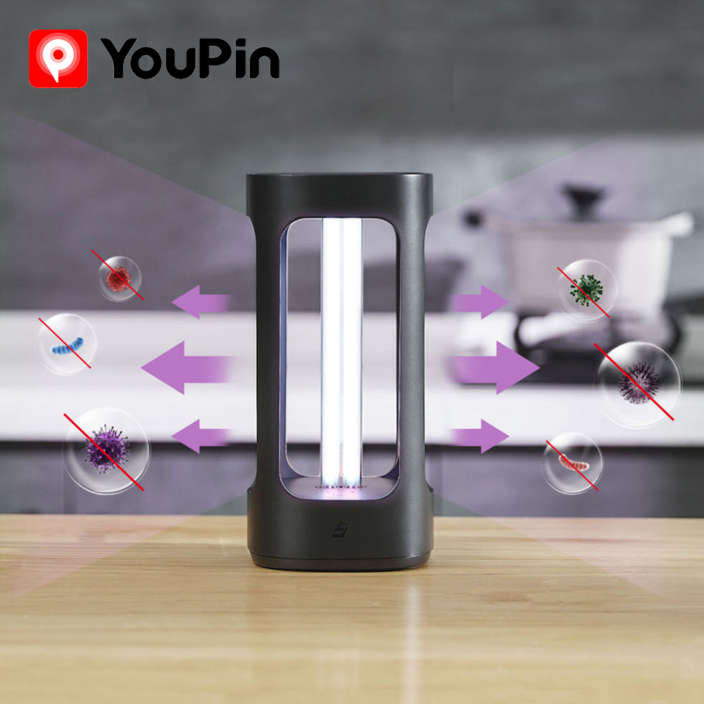 YouPin Xiaomi FIVE Intelligent Disinfection Lamp UVC Sterilizer Ultraviolet Germicidal Human Body Sensor Mijia App Control