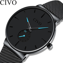 Reloj Hombre CIVO New Mens Watches Top Brand Luxury Quartz Wrist Watches Men Mes