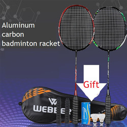 2 шт., профессиональная комплект ракеток для бадминтона, Ультралегкая двойная ракетка для бадминтона из титанового сплава, легкая игра в бад...