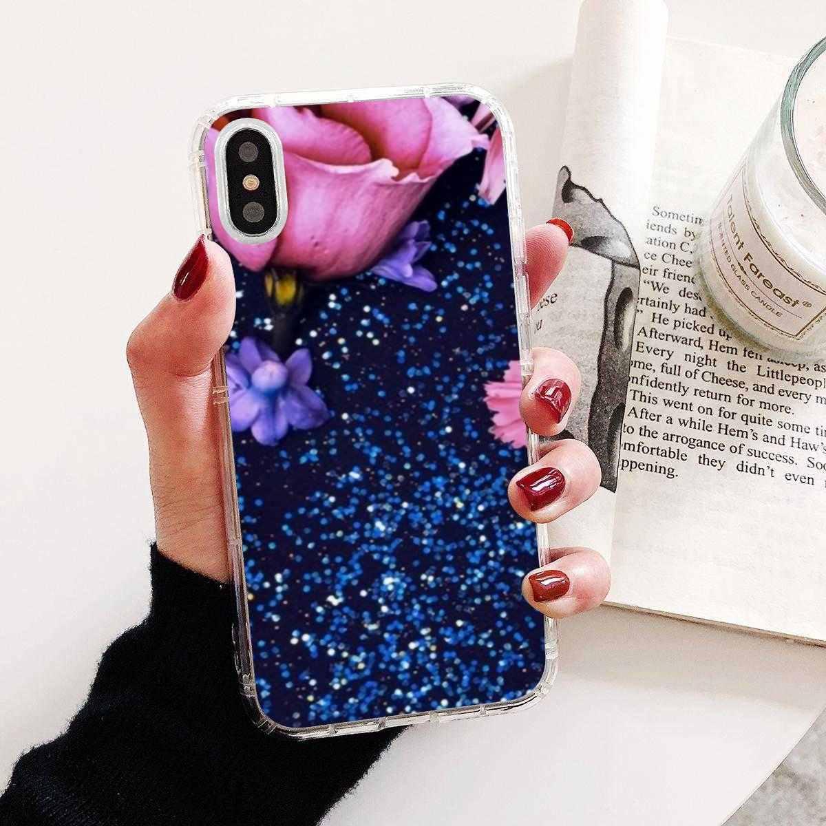 Bướm Đỏ Trên Hoa Hồng Trắng Hoa Dành Cho Samsung Galaxy Samsung Galaxy A10 A30 A40 A50 A60 A70 S6 Hoạt Động Note 10 Plus edge M30 Mềm Bọc Da