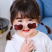 Gradient Sunglasses Apple-Shape Protection Child Plastic Border Girls UV400 Personality