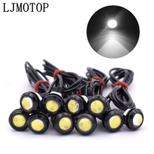 10 Piece Eagle Eye LED Reverse Backup Light DRL Daytime Running Light For Kawasaki ZX10R ZX12R ZX6R Z650 Z900 Z800 NINJA 250