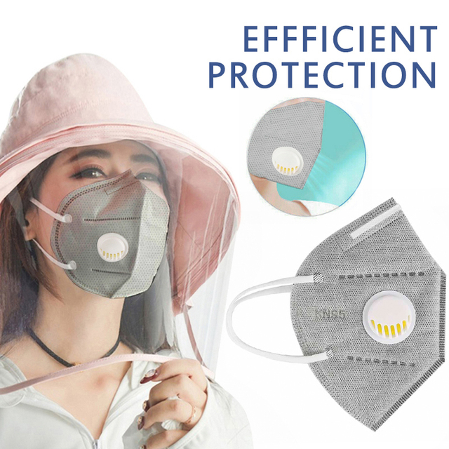 1pcs Reusable n95 Mask Valved ffp2 ffp3 Face Mask Respirator KN95 Face Mask 6 Layer Mask Face Mask 1