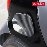 Car Exterior Trim Carbon Fiber Fuel Tank Cap Sticker Decoration For Mercedes Smart fortwo forfour 453 Styling Accessories